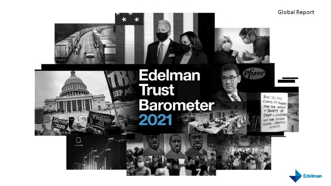 Edelman Trust Barometer 2021: pasitikėjimas verslu 2020 m. kilo 18-oje iš 27-ių valstybių